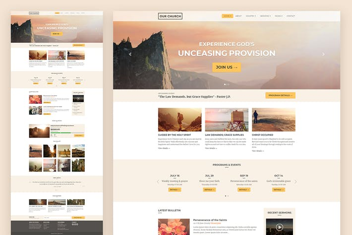 Thumbnail for Church Responsive HTML5 Website Template