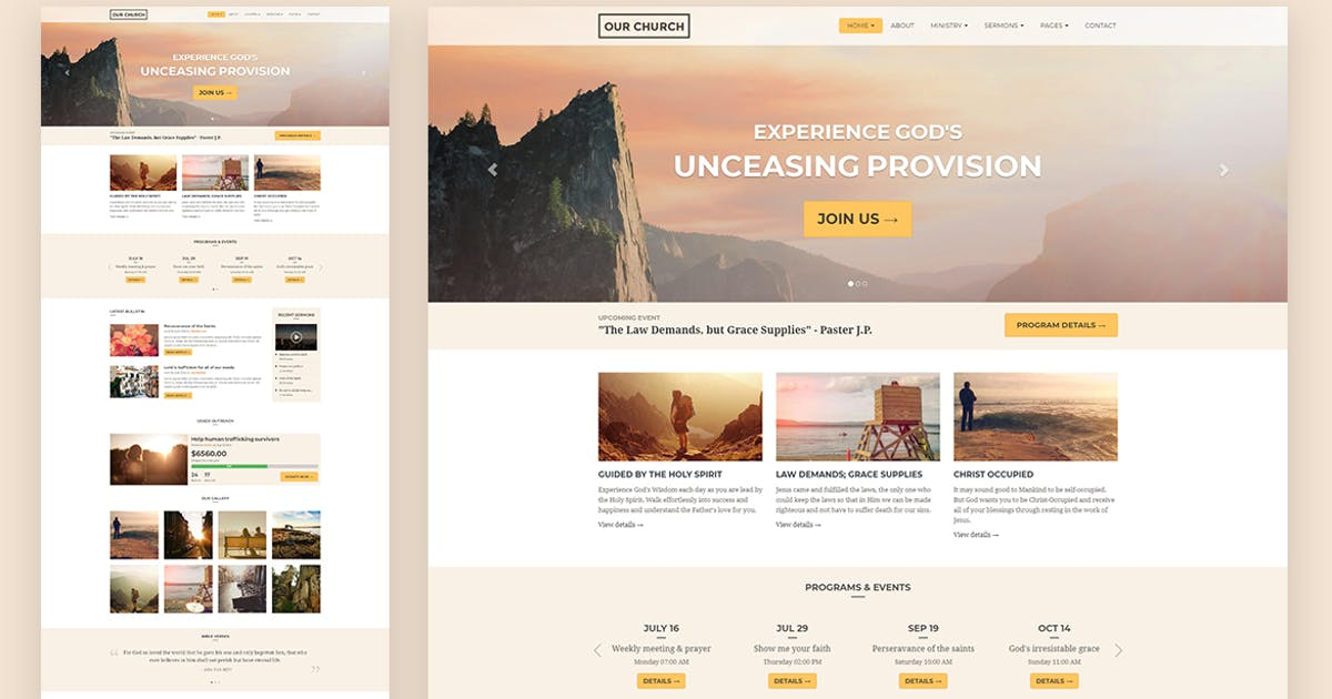 Download Church Responsive HTML5 Website Template by surjithctly