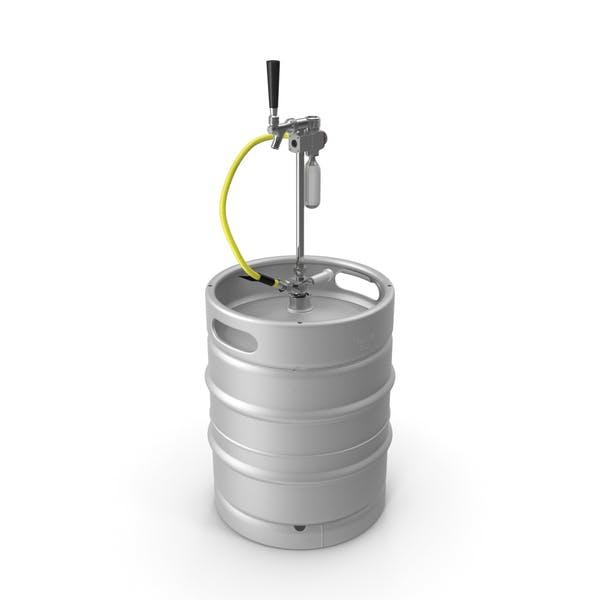 Bierfass 50L mit tragbarem Wasserhahn
