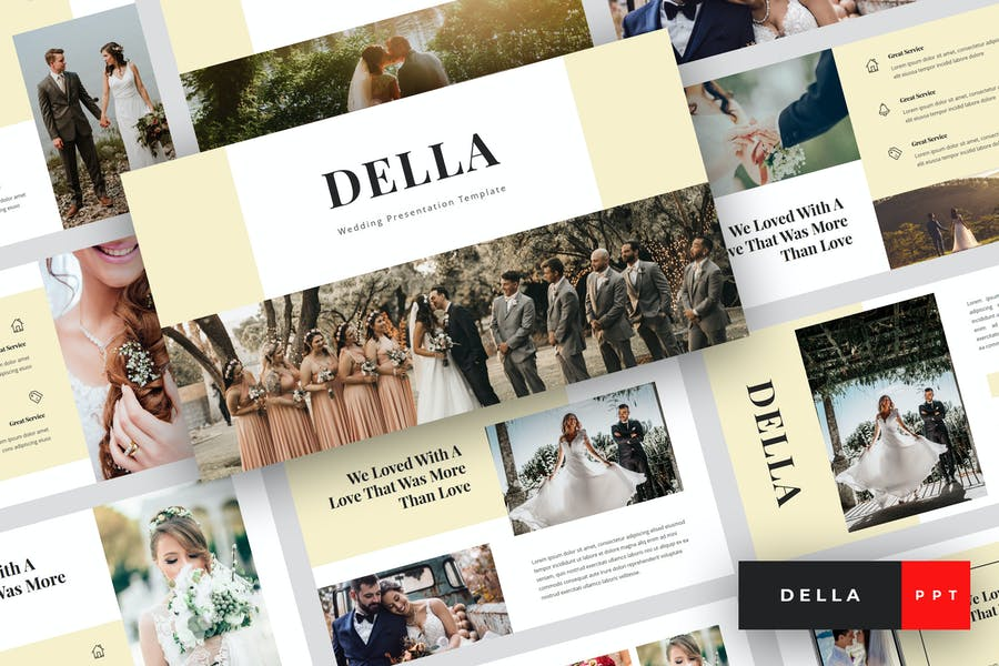 Della - Wedding PowerPoint Template