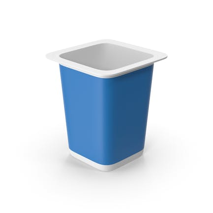 Taza de Yogurt Azul Vacía