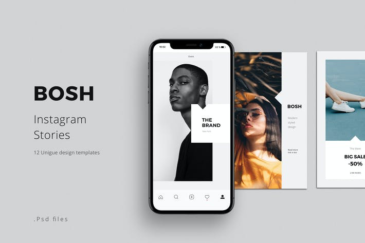 Thumbnail for BOSH - Instagram Stories Template