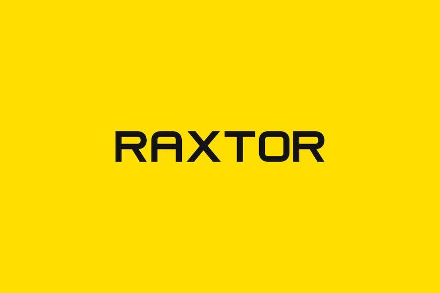 RAXTOR - Display / Headline / Logo Typeface