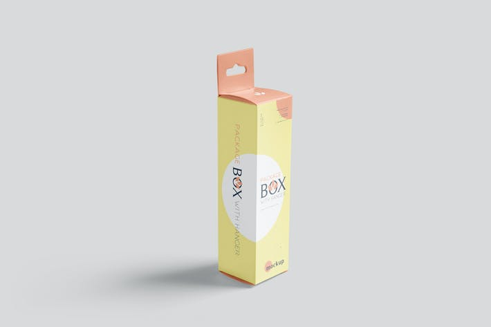Thumbnail for Package Box Mockup Set petit rectangle avec cintre