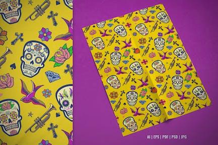 Seamless Pattern Design of Sugar Skull