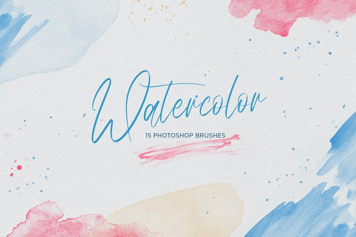 Thumbnail for Watercolor Photoshop Brushes