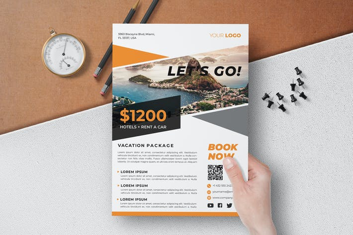Thumbnail for Travel Flyer Template