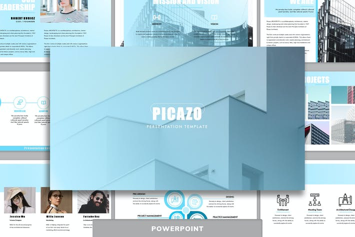 Thumbnail for Picazo - Architecture Powerpoint Template