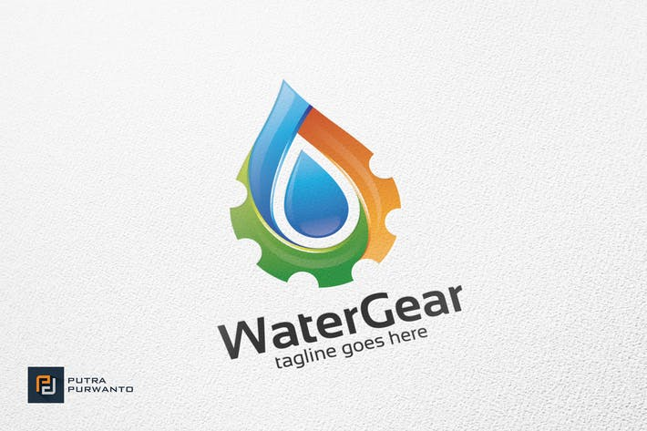 Thumbnail for Water Gear - Logo Template