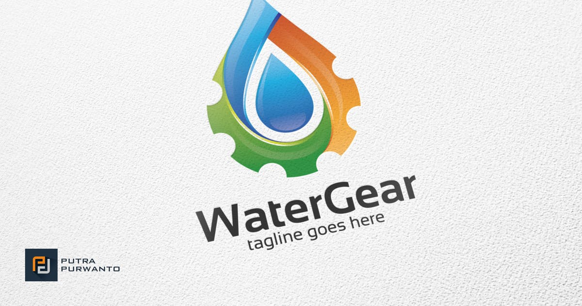 Download Water Gear - Logo Template by putra_purwanto