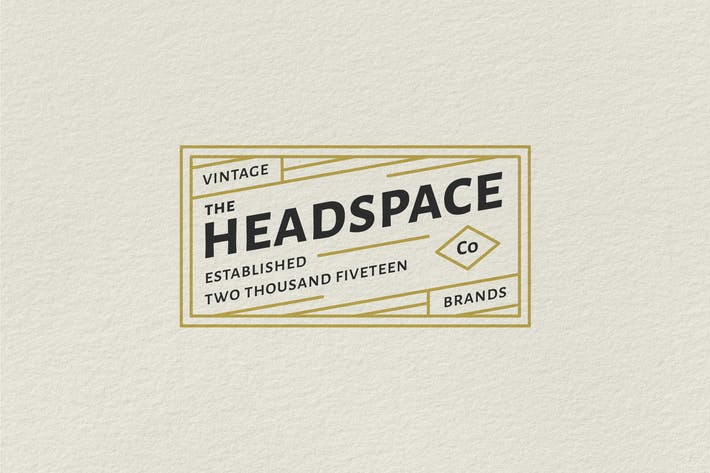 Vintage-Badge-Logo - Headspace Vintage-Marken