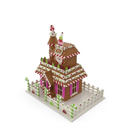 Weihnachts-Lebkuchenhaus