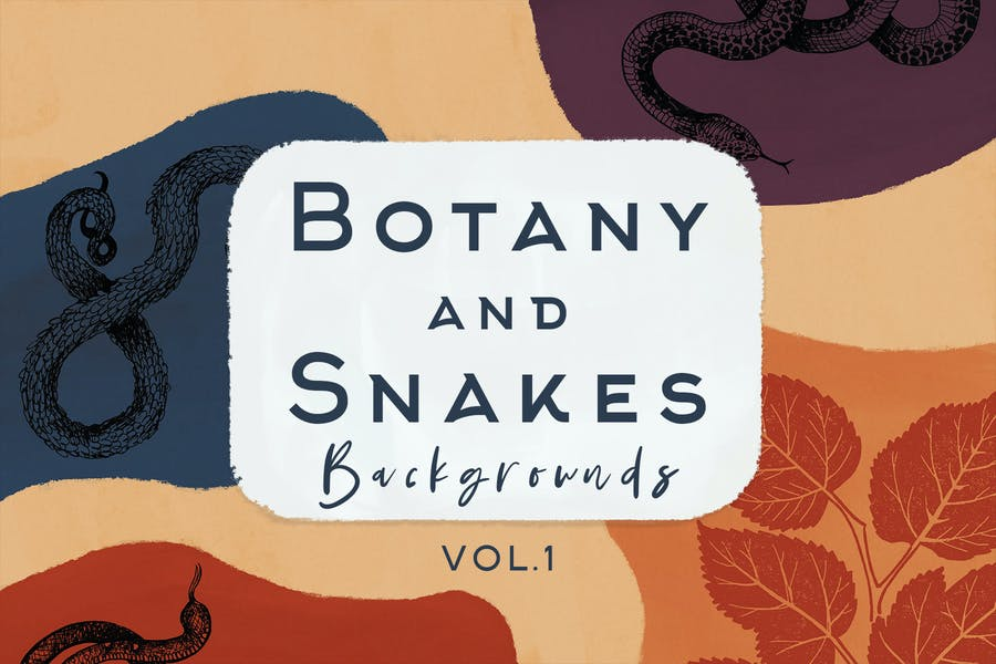 Botany And Snakes Backgrounds Vol.1
