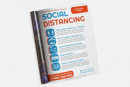 Social Distancing Ads Magazine