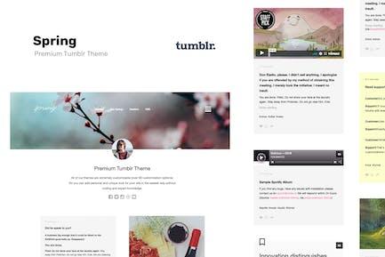 Spring - Two Column Portfolio Tumblr Theme