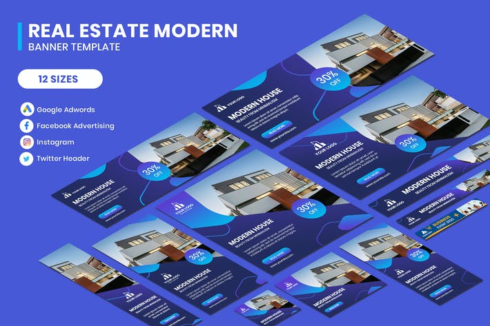 Cover Image For Real Estate Modern Google Adwords Template