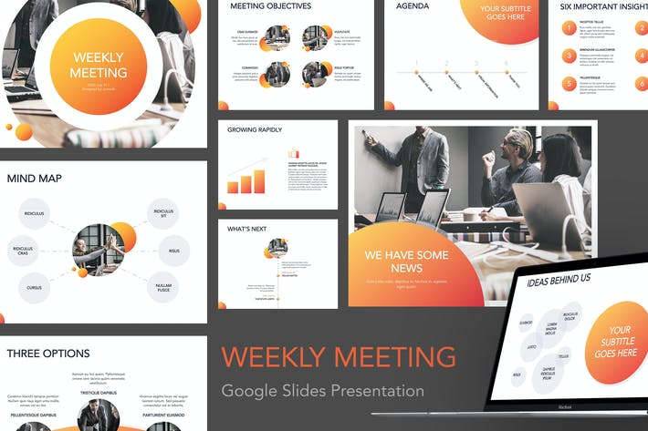 Thumbnail for Weekly Meeting Google Slides Template