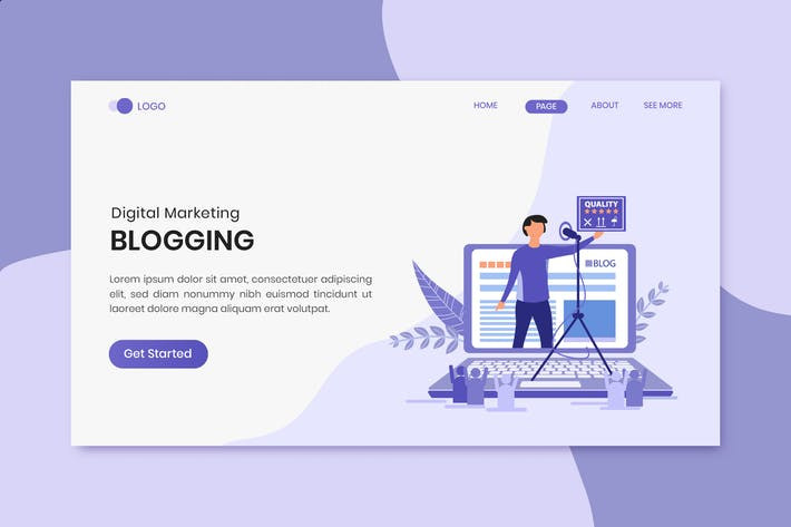 Thumbnail for Bloggen Marketing Landing Page