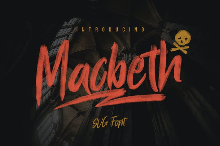 Thumbnail for Macbeth Typeface - SVG Font