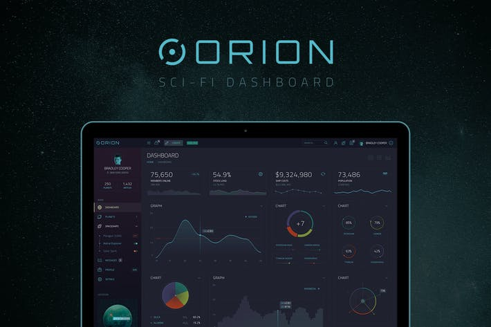 Thumbnail for ORION – Sci-Fi Dashboard