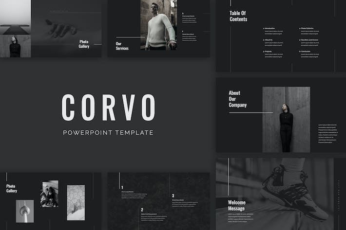 Cover Image For Corvo PowerPoint Template