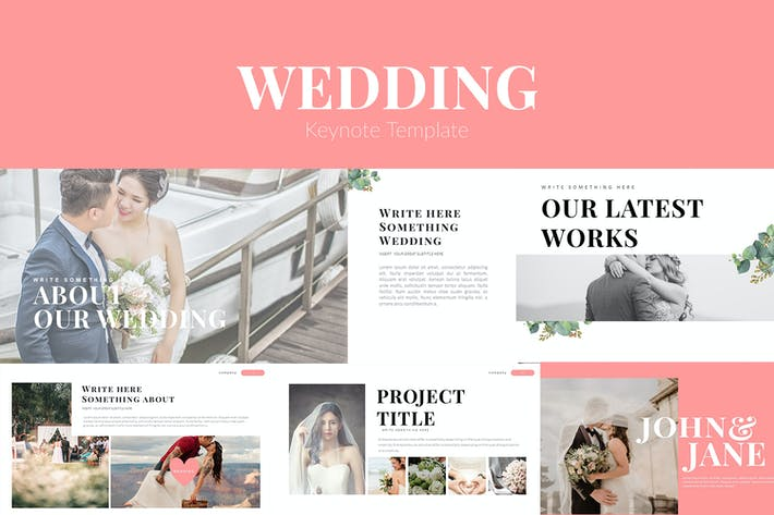 Thumbnail for Wedding Keynote Template