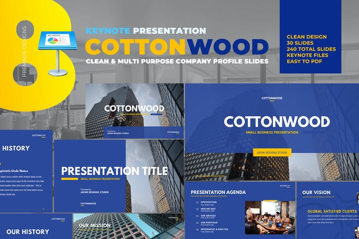 Thumbnail for CottonWood - Company Profile Keynote