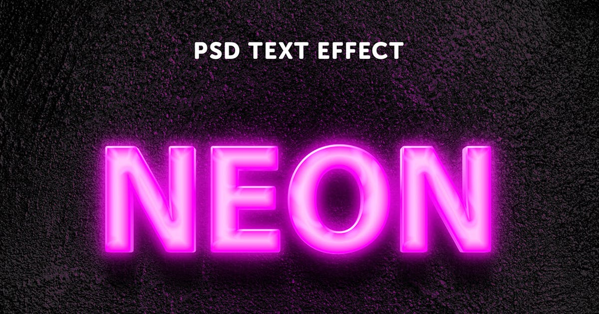 Download Neon pink glow text effect by wudelmbois