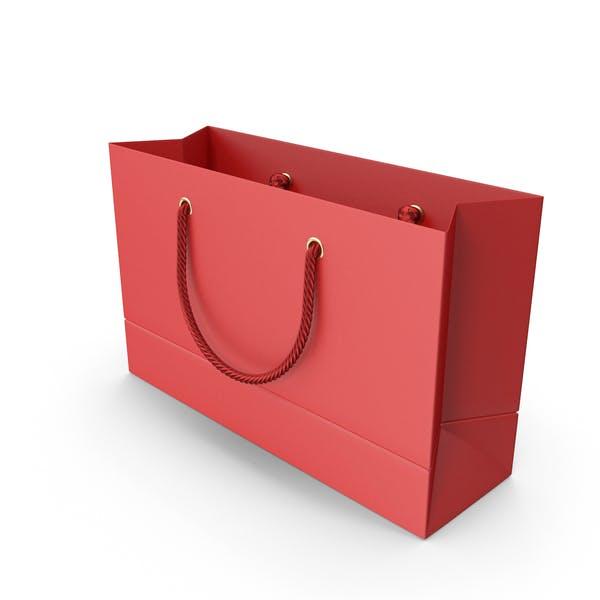 Thumbnail for Rote Einkaufstasche mit roten Griffen
