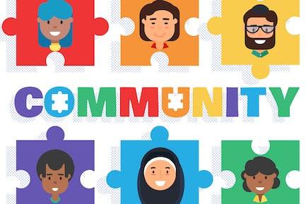 World Community Concept Illustration