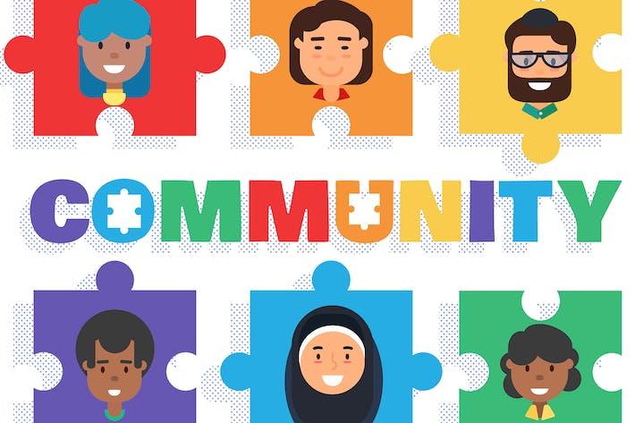 Thumbnail for World Community Concept Illustration