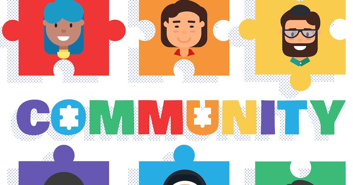 Download World Community Concept Illustration by barsrsind