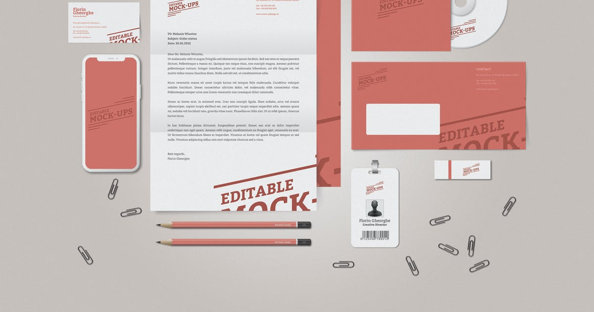 Download Stationery / Corporate Identity Mockup by floringheorghe