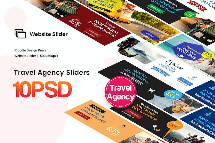 Thumbnail for Travel Agency Website Sliders
