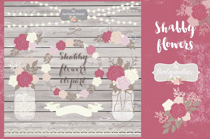 Thumbnail for Shabby Chic dusty rose design
