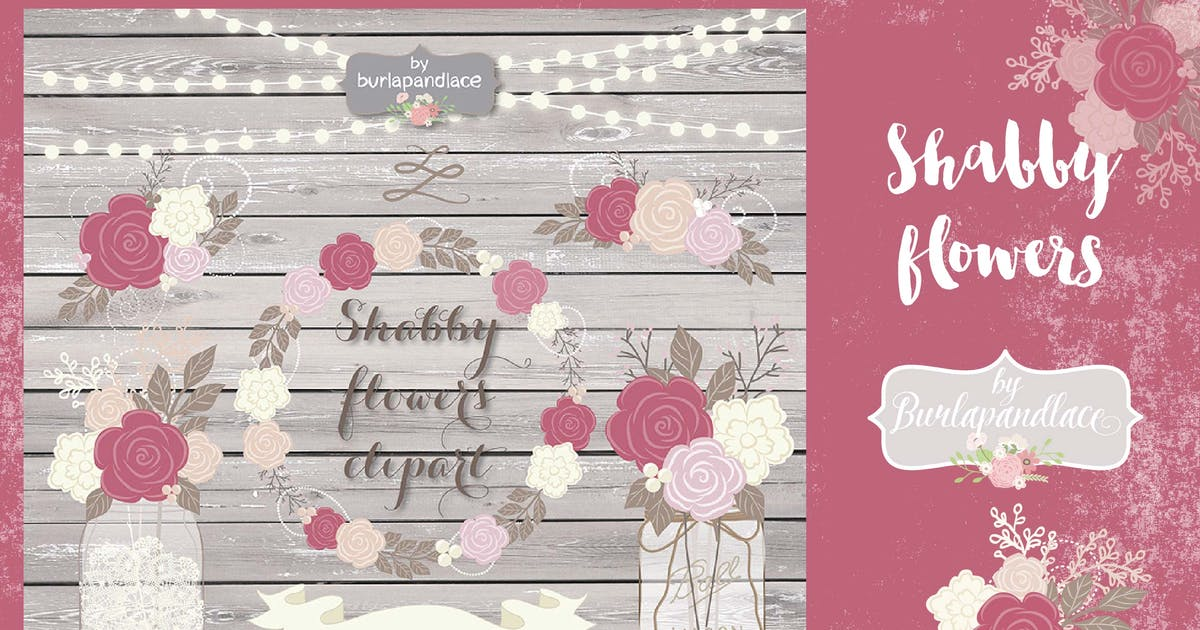 Download Shabby Chic dusty rose design by burlapandlace