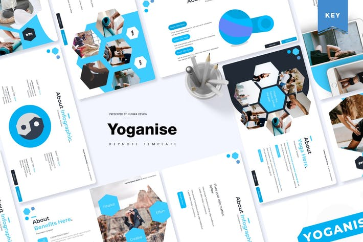 Yoganise | Шаблон Keynote