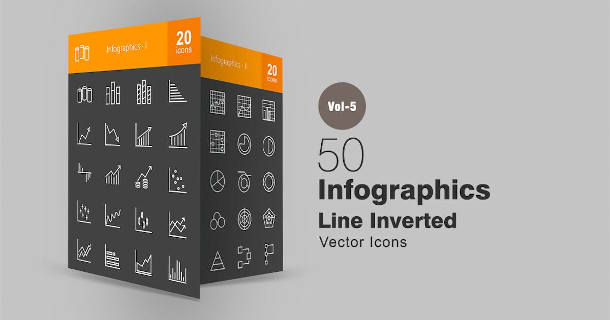 Download 40 Infographics Line Inverted Icons by IconBunny