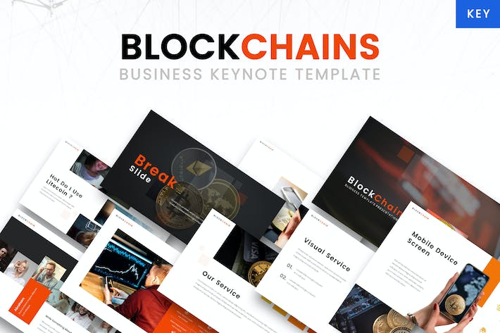 Thumbnail for Blockchains - Business keynote Template