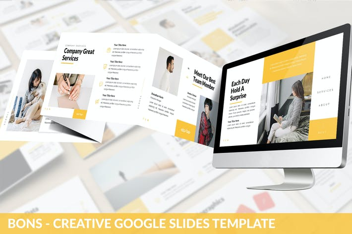 Thumbnail for Bons - Creative Google Slides Template