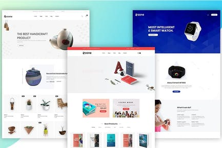 Ezone - Mehrzweck-eCommerce-Bootstrap4-Vorlage