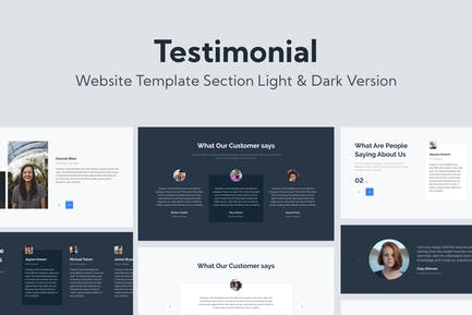 Web Testimonial Template