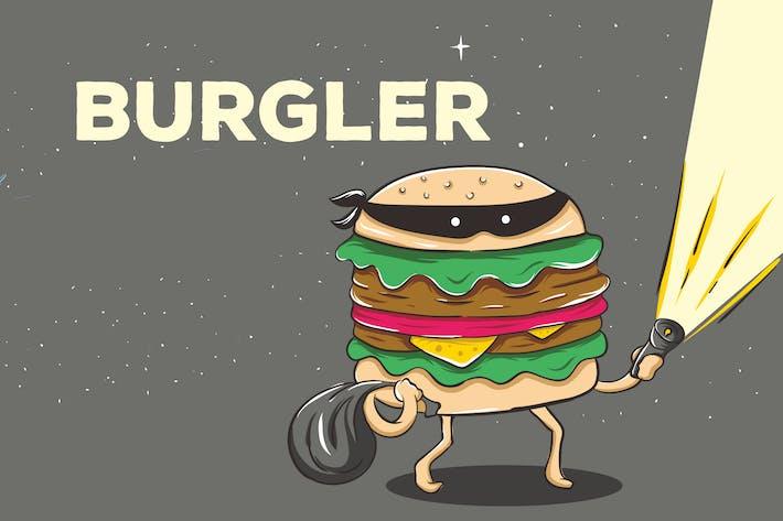 Thumbnail for Burglar Burger Vector Background