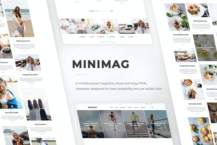 Thumbnail for MINIMAG - Magazine & Blog HTML Template