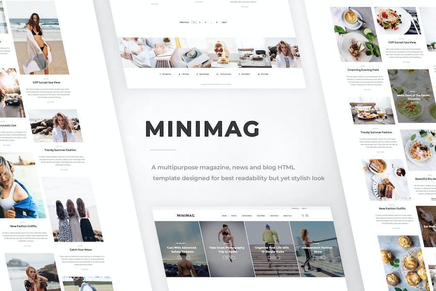 MINIMAG - Magazine & Blog HTML Template