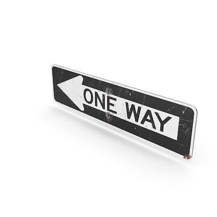 Straßenschild One Way