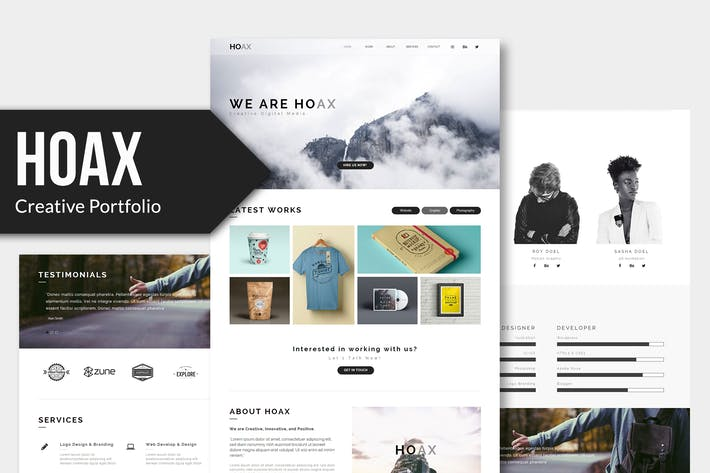 Thumbnail for HOAX - Creative Multipurpose HTML Template