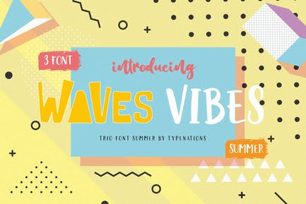 Waves Vibes Trio Font
