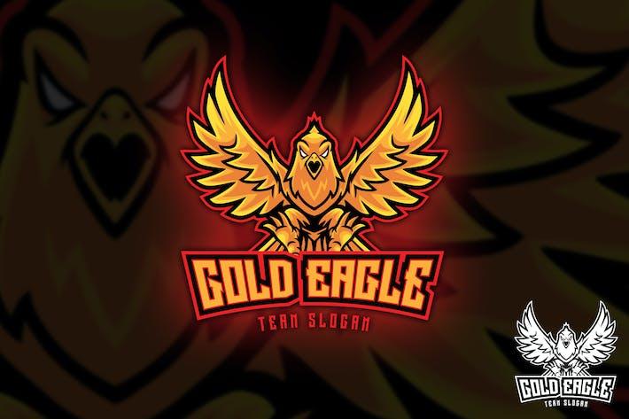 Thumbnail for Gold Eagle Sports Logo Maskottchen