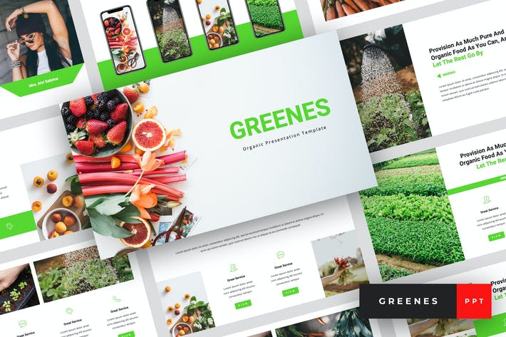 Thumbnail for Greenes - Organic PowerPoint Template